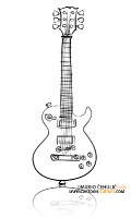 GIBSON Les Paul Standard illustrated caricature