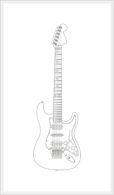 guitar drawing tutorial