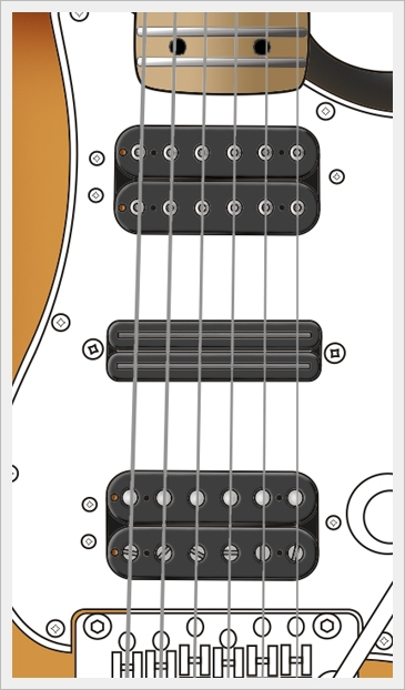 Cartoon Guitars Drawing Tutorial