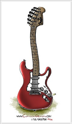 FENDER Stratocaster Caricatured Guitar
