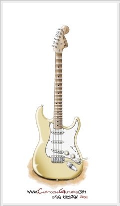 Yngwie Malmsteen's FENDER Stratocaster guitar illustration