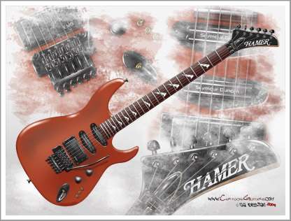 HAMER-Chaparall-electric-guitar-wallpaper