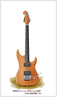 WASHBURN N4 cartoon guitar illustration