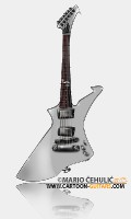 ESP LTD James Hetfield Snakebyte guitar caricature
