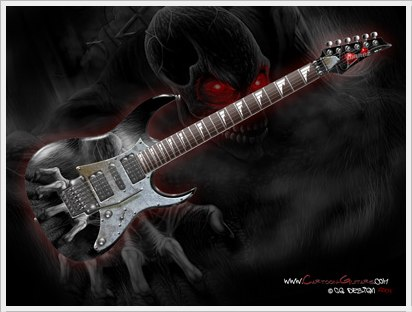 IBANEZ RG350 Custom cartoon guitar Wallpaper